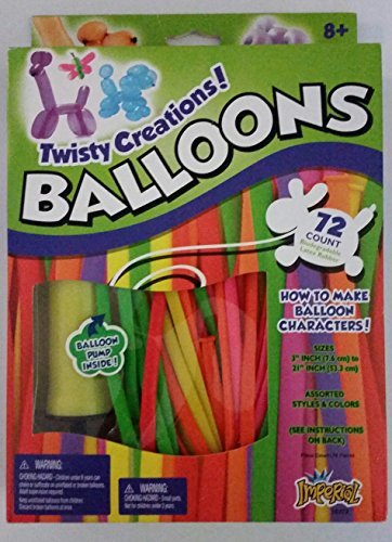 Twisty Creations! Balloons 72 Count with Pump