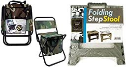 Foldable Chair Compartments Bundle With Folding Step Stool