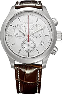 Jowissa Men's J7.041.L Pallaton Brown Leather Chronograph Watch