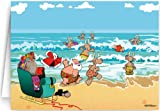 Beach Theme Christmas Card - 12 Cards / 13 Envelopes