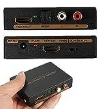 Flylinktech HDMIオーディオ分離器 同軸・光/アナログ2CHステレオ/5.1サラウンドデジタルオーディオ出力