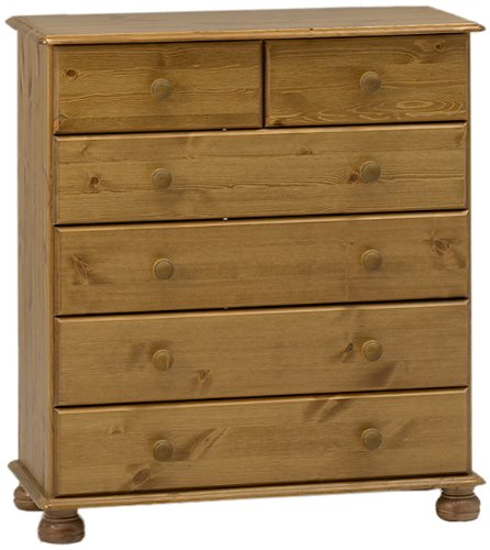 <p>C&oacute;moda de madera de pino tratado 4+2cajones</p>