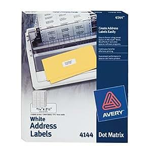 Avery Dot Matrix Printer Labels (AVE4144)