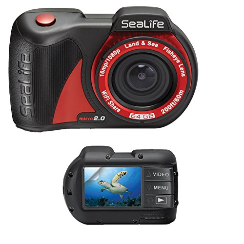 SeaLife Micro 2.0 WiFi 64GB Underwater Camera w/ SL5012 Screen Protector