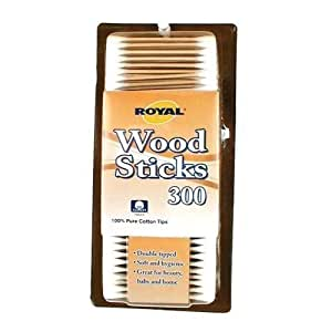 Royal Wood Stick Cotton Swabs 1 Box - 300 Count