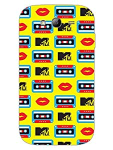 MTV Gone Case - Music Love Cassette - Yellow - Hard Back Case Cover for Samsung Grand Duos - Superior Matte Finish - HD Printed Cases and Covers