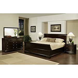 5 piece sleigh king size bedroom set kitchen for Bedroom furniture amazon