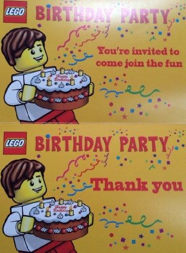 Lego Birthday Party Invitations – Pack of 10 Invitations