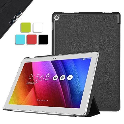 ELTD ASUS ZenPad 10 Z300C cover, Ultra-slim Custodia Cover in pelle PU per ASUS ZenPad 10 Z300C, Nero