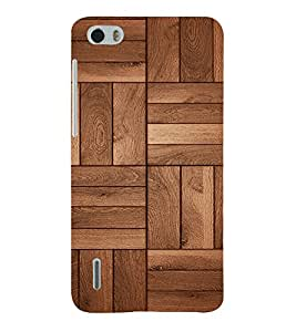 Beautiful Wood Design 3D Hard Polycarbonate Designer Back Case Cover for Huawei Honor 6