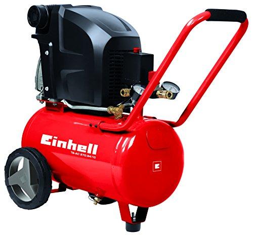 Einhell-Kompressor-TE-AC-2702410-18-kW-24-L-Ansaugleistung-270-l-min-10-bar-lgeschmiert-groe-Rder-und-Haltebgel