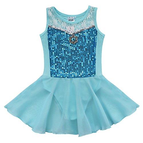 iEFiEL Mädchen Kinder Ballettanzug-Kleid Gymnastikanzug Turnanzug Ballett Trikot Tanz Kleidung