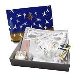 (キョウエツ) KYOETSU 日本製 お宮参り 男の子 白 フードとよだれかけと扇子とお守り袋と化粧箱の5点セット ランキングお取り寄せ