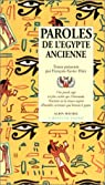 Paroles de l'Egypte ancienne par Héry