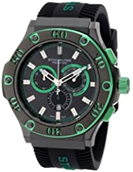 Stuhrling Prestige Men's 292P.335971 Swiss-Made Harbinger Quartz Chronograph Date Green Watch