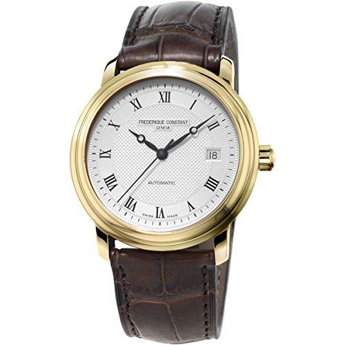 Frederique Constant FC-303MC4P5 - Reloj para hombres, correa de cuero color marrón