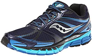 Saucony Men's Guide 8 Running Shoe,Navy/Blue/Silver,10.5 M US