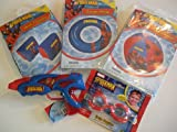Spiderman Swim Gift Set - Includes Arm Floats, Swim Ring, Swim Goggles, Beach Ball & W...