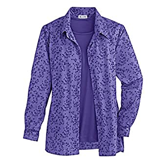 Blair Women's Plus Size Print Shirt with Matching Tank at