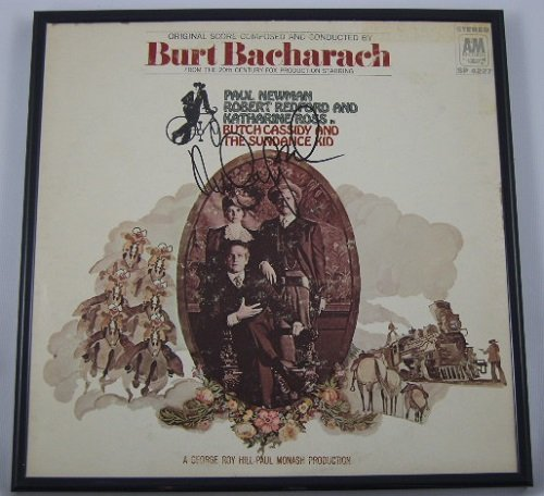 Robert Redford Butch Cassidy And The Sundance Kid Signed Autographed Original Motion Picture Soundtrack Lp Record Album With Vinyl Framed Loa front-1066449