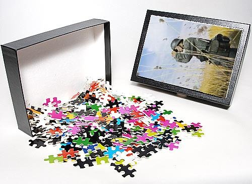 Photo Jigsaw Puzzle Of German Uses Binoculars From Mary Evans