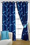 HOMEC Kids Collection Printed Curtain - Set of 2 (Size - Long Door 46 X 108 inch/Color - Blue)