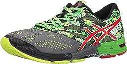 ASICS Men\'s Gel-Noosa Tri 10 Running Shoe,Carbon/Fiery Red/Green,7.5 M US
