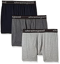 Chromozome Men's Cotton Trunk (Pack of 3) (8902733346740_TC 02_Large_Navy, Grey and Charcoal)