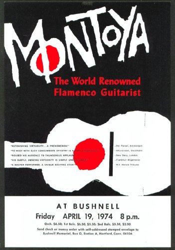 Guitarist Carlos Montoya Flyer Bushnell Hartford 1974