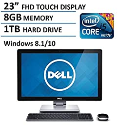 2016 Newest Dell 23 Inch Touchscreen All-in-One Desktop Computer (Intel i5-4210M up to 3.2GHz, 8GB RAM, 1TB HDD, 23 Inch FHD 1080P Touch Display,HDMI, WiFi, Webcam, Windows 8.1/10)