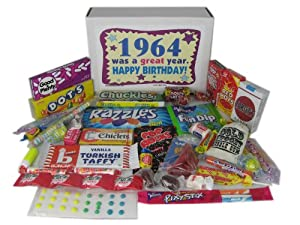 '60s Retro Candy Decade 50th Birthday Gift Box Jr. Nostalgic Candy 1964