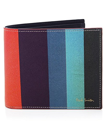 Paul Smith Men's Portafoglio in pelle Stripe Multi Colorata Unica Taglia