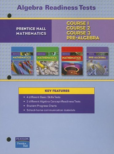 PRENTICE HALL MATH ALGEBRA READINESS TESTS BLACKLINE MASTERS 2007