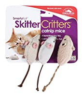 SmartyKat Skitter Critters Cat Toy Catnip Mice, 6 Pack