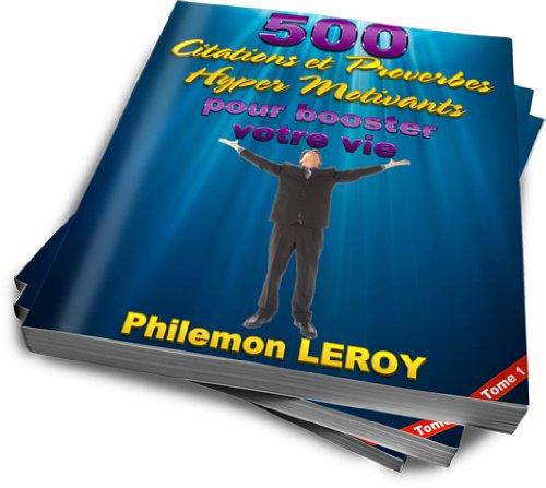 Couverture du livre 500 citations et proverbes hyper motivants pour booster votre vie