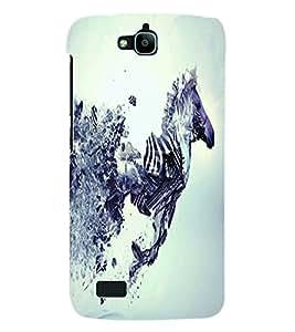 Fuson 3D Printed Zebra Designer Back Case Cover for Huawei Honor Holly - D1054