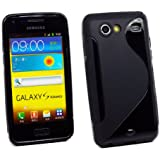 Kit Me Out IT - Samsung Galaxy S Advance i9070 Android - Protezione Custodia / Cover / Skin en Gel TPU - 'Le S' Nero + LCD Pellicola Protettiva Schermo