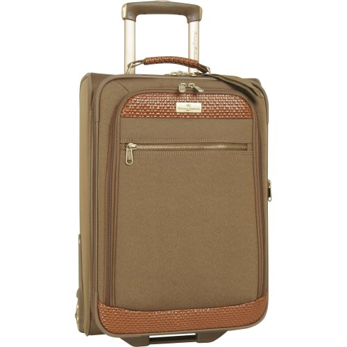 Tommy Bahama Luggage Retreat 21 Inch Rolling Expandable Upright, Olive/Dark Brown, One Size