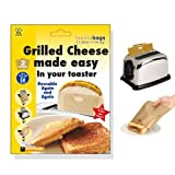 Toastabags Twin Pack - Grilled Cheese in Your Toaster No Fuss No Mess - Reusable 50 Times
