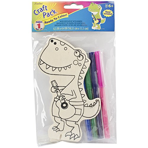 Darice Wood Kit with Markers Dinosaur