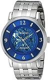 Armitron Men's 20/4989BLSV Automatic Blue Skeleton Dial Silver-Tone Bracelet Watch