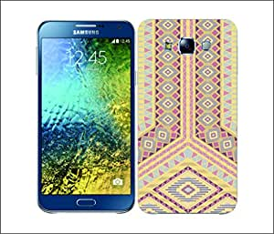 Galaxy Printed 2090 Geometric Tribals Soft Pastle Hard Cover for Samsung E5