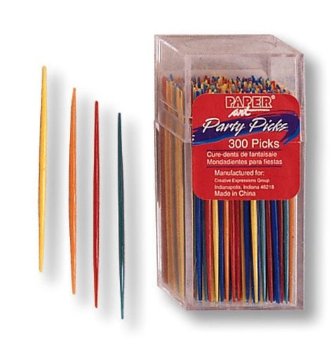Creative Converting Party Picks, 300 Assorted Colored Toothpicks front-547790