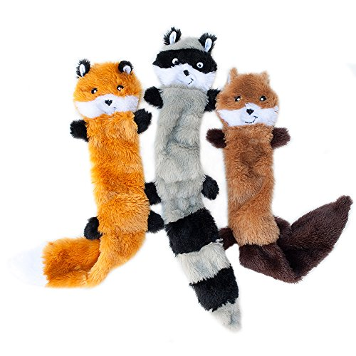 ZippyPaws Skinny Peltz No-Stuffing Squeaky Plush Dog Toy
