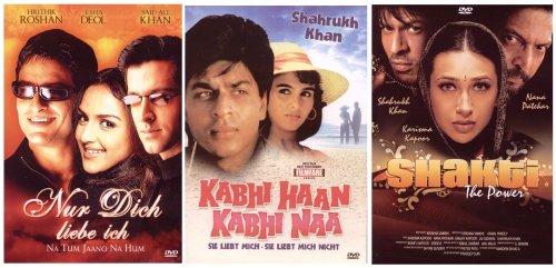 Triple Bollywood Set: Shakti - Sie liebt mich, Sie liebt mich nicht - Nur Dich liebe ich [3 DVDs]