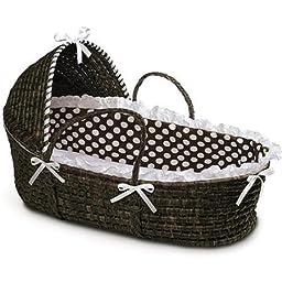 Badger Basket Hooded Moses Basket brown