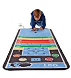 Marble Aim Washable Nylon Carpet Runner with 48 Marbles