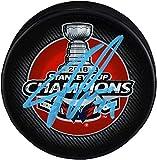 John Carlson Washington Capitals 2018 Stanley Cup Champions Autographed Stanley Cup Champions Logo Hockey Puck - Fanatics Authentic Certified