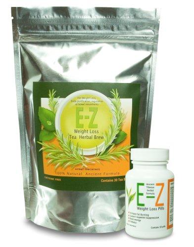 Combo E Z Weight Loss Pills One Pill a Day E Z Weight Loss Tea Natural Weight Loss and Appetite Control