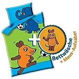 Aminata Kids - Lizenz Kinder-Bettwäsche Sendung mit der Maus 100x135